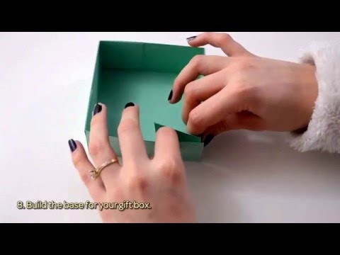 How To Make A Paper Gift Box For Valentine's Day - DIY  Tutorial - Guidecentral