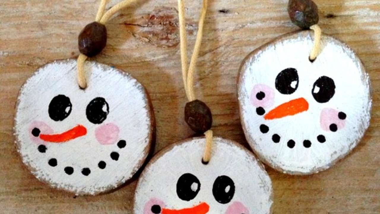 How To Make Cute Wooden Snowman Xmas Ornaments - DIY Home Tutorial - Guidecentral