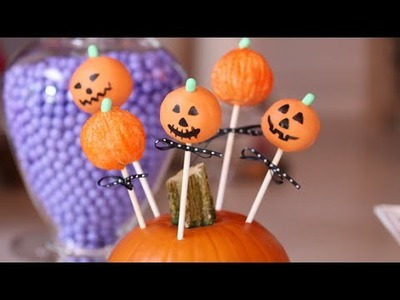 How to Make Halloween Jack-o'-Lantern Cake Pops