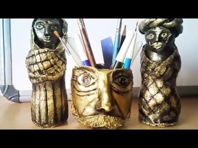 HOW TO MAKE PAPER MACHE CLAY SHOW PIECES DIY IDEAS