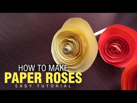 How to make Simple DIY Paper Rose Bouquet | Quick and Easy tutorial for Kids