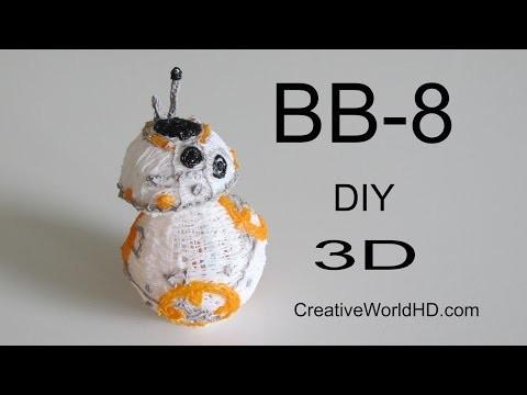 How to Make Star Wars BB-8. 3D Printing Pen DIY BB8 droid Tutorial