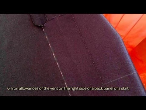 How To Sew A Vent In A Skirt - DIY  Tutorial - Guidecentral