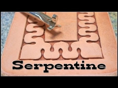 How to Stamp Leather Designs with Craftools D445 and D447 DIY Serpentine Patterns
