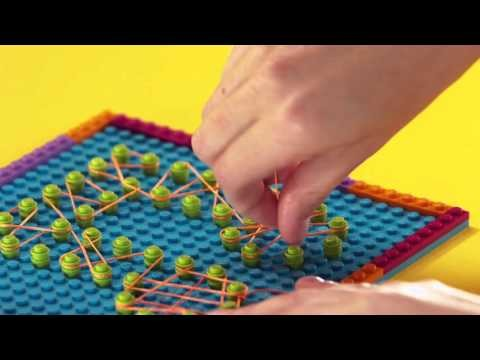 LEGO® Friends - How to: Andrea's DIY String Art Note