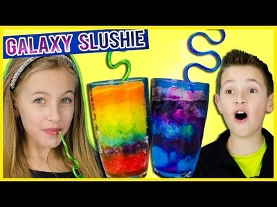 LIGHT UP GALAXY & RAINBOW SLUSHIE PINTEREST DIY! FUN EASY FROZEN DRINK RECIPE