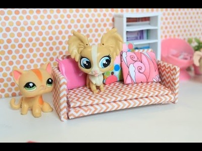 LPS DIY couch | How to make a doll couch