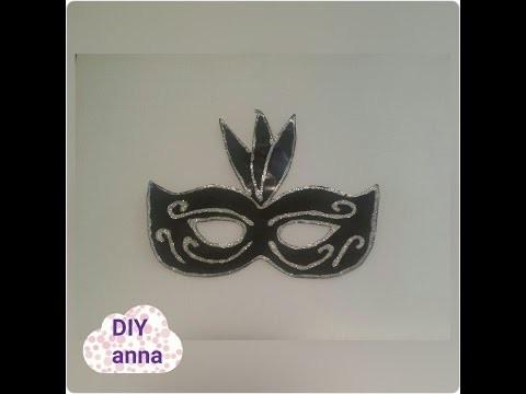 Masquerade halloween mask DIY paper craft tutorial