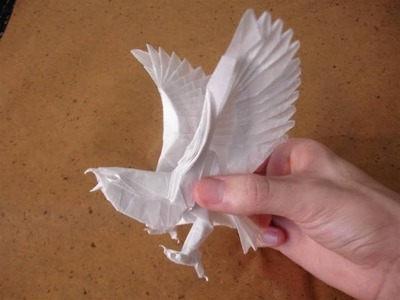 Origami. Eagle of the paper. How to make origami eagle.
