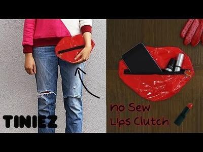 Pipa's No Sew Lips Clutch DIY Tutorial by Tiniez