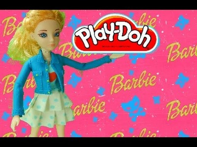Play Doh craft. Barbie dress for party HD. inspired playdohcraftntoys