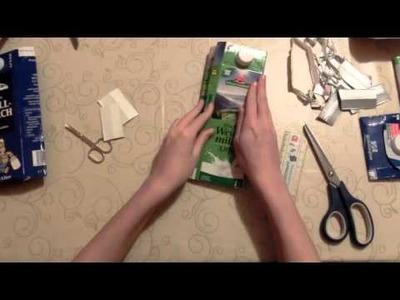 Purse tinker from milk carton DIY Tutorial
