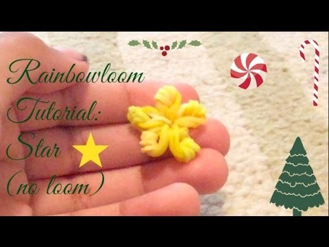 Rainbowloom Tutorial: Star (no loom)
