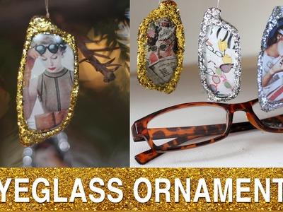 Reclaimed Eyeglass DIY:  Ornament Exchange