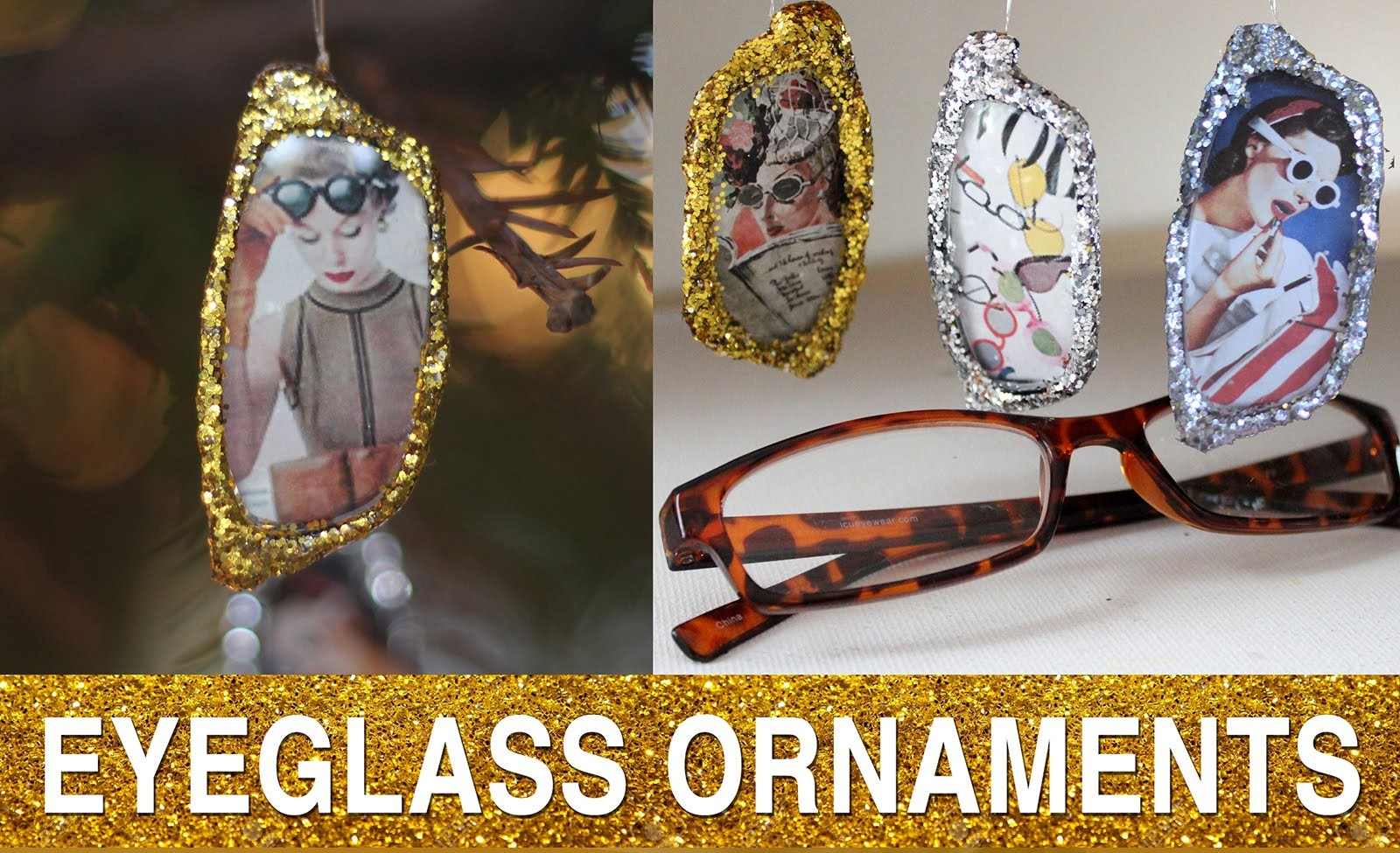 Reclaimed Eyeglass DIY:  Ornament Exchange