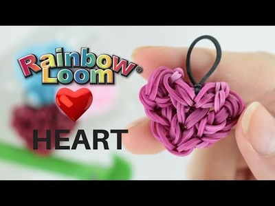 Rifatto CUORE CON ELASTICI DIY rainbow loom heart tutorial bands bandz gommini