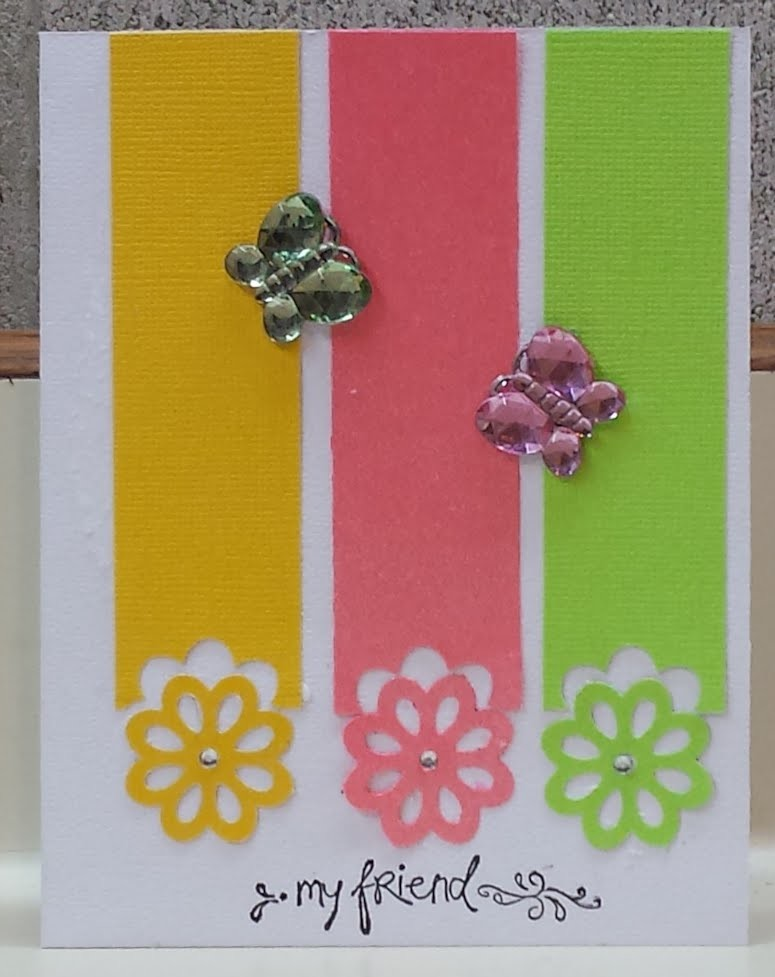 Summer Flower Punch Handmade Card