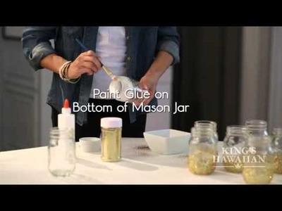 Awards Party DIY: Glitter Mason Jar Vases
