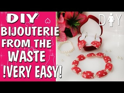 Bracelet DIY tutorial | How to make a jewelry from plastic bottle