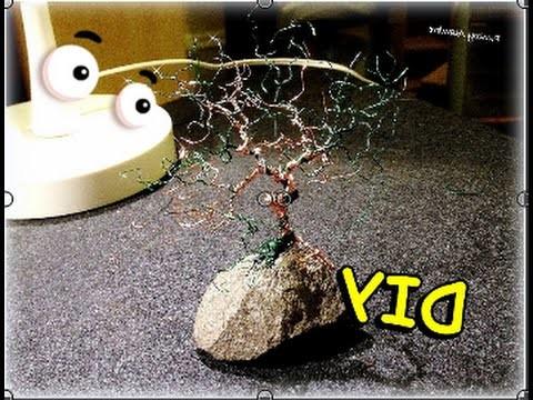 "Como Hacer ""Bonsai de Alambre"" || How to Make a""Wire Bonsai"" - By Puntoy Alambre"