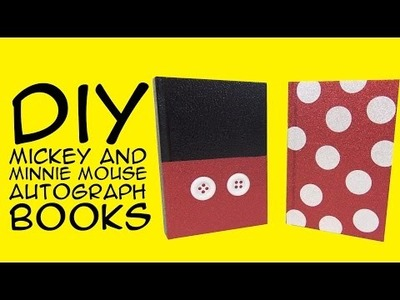 Disney DIY: Mickey and Minnie Mouse Books: Crafty McFangirl Tutorial