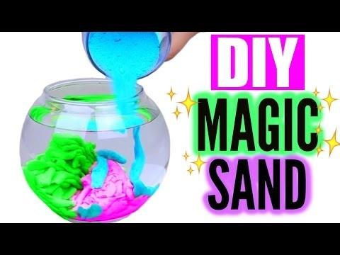 DIY Aqua Magic Sand! Cool Sand That Never Gets Wet!