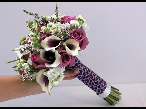DIY Calla and Rose Bridal Bouquet