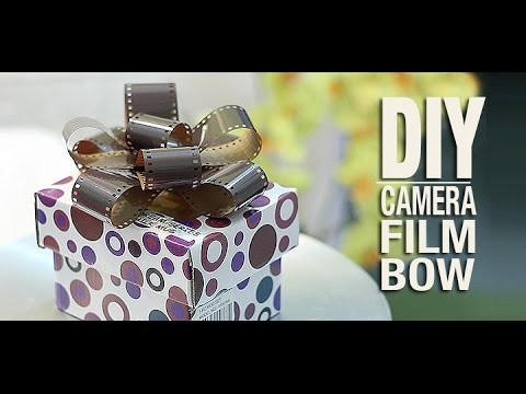 DIY Camera Film Gift Bow: DIYIndian