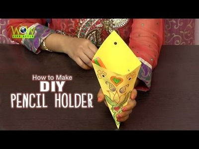 DIY Crafts: Multi Purpose Pencil Holder With Paper | Easy Scrapbook Ideas for Kids
