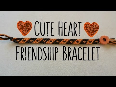 DIY Cute Small Heart Bracelet: BB Pattern #7911. Friendship Bracelets. ¦ The Corner of Craft
