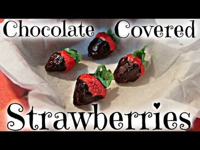 DIY Doll Chocolate Covered Strawberries