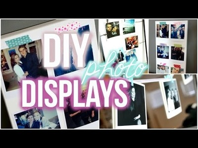 DIY Easy Displays for Polaroid Pictures!