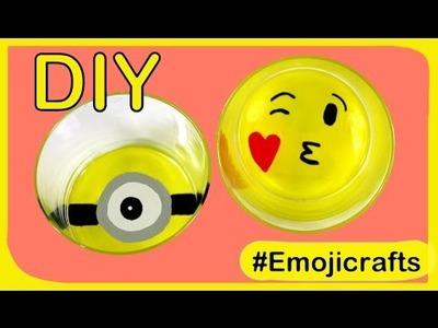 DIY emoji glass of water or Minion glass