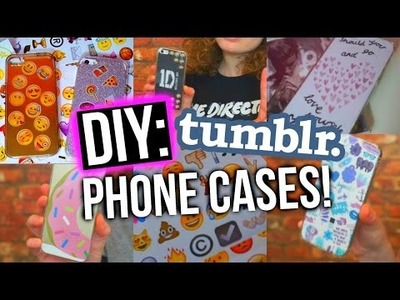 DIY FANGIRL TUMBLR INSPIRED IPHONE CASES!