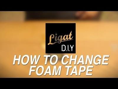 DIY - How To Change Fingerboard Foamtape.