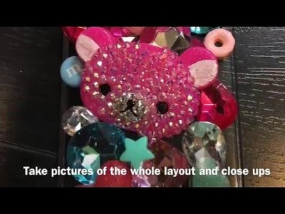 DIY| How to Make a Bling Phone Case |iPhone 6s plus