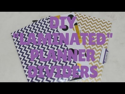 """DIY """"Laminated"""" Planner Dividers  Crafting On a Budget"""