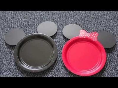 DIY Mickey & Minnie Mouse Plates