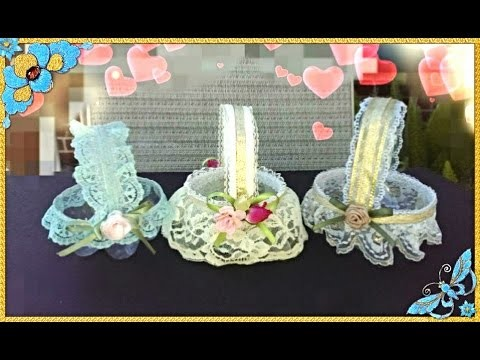 Diy: mini goodies basket out of waste plastic bottle