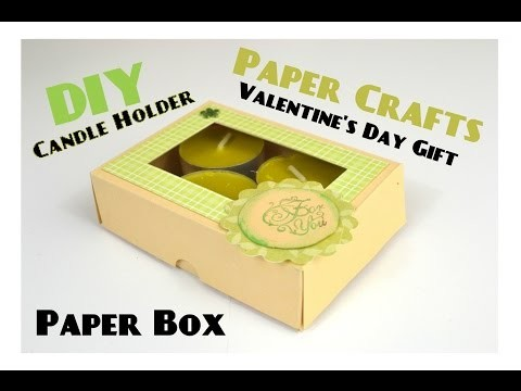 DIY Paper Crafts - Paper Box & Candle Holder - Last minute Mother's Day Gifts