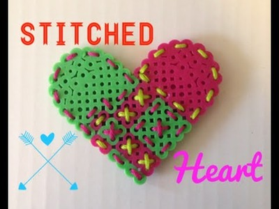 DIY Perler Bead Stitched Heart!