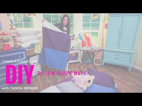 DIY Pillow Floor Mats for Kids!