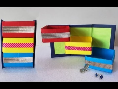 DIY Projects : How to Make Origami Shelves | Desk Organizer | Do it Yourself