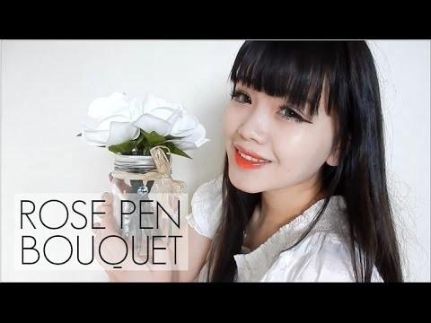 DIY: Rose Pen Bouquet | Valentine's Gift Idea Under $10