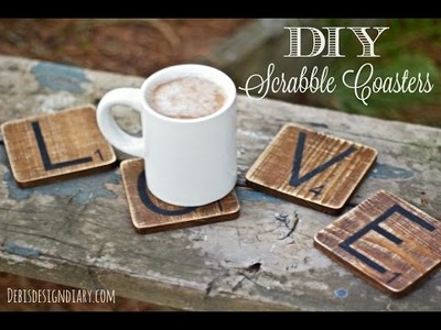 DIY Scrabble Tile Coasters | Kin's Valentine's Day Inspiration Collaboration