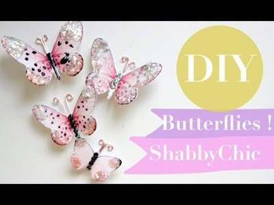DIY ShabbyChic Butterflies Paper | Tutorial | Super Easy  | How to