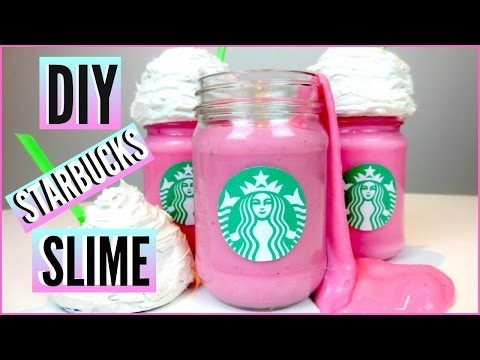 DIY STARBUCKS Cotton Candy Frappuccino SLIME! | How To Make Slime and Slime Room Decor !