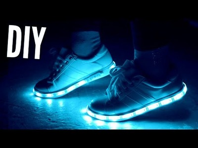 DIY Tumblr Light Up Sneakers | rosaliesaysrawr