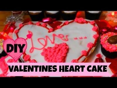 DIY Valentine Day Heart Cake | Izzy & Frankie