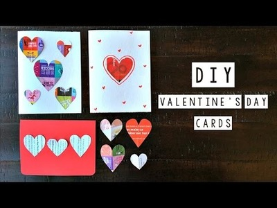 DIY Valentine's Day Cards  - Recycled Materials